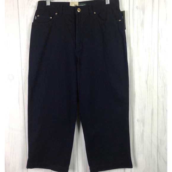 5351712e NEW Ralph Lauren Jean Co Crop Size 8P Women Blue